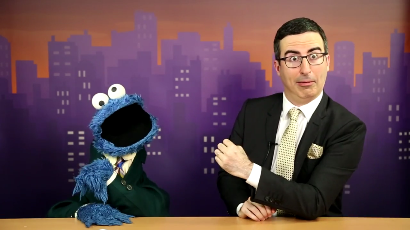 john oliver and cookie monster